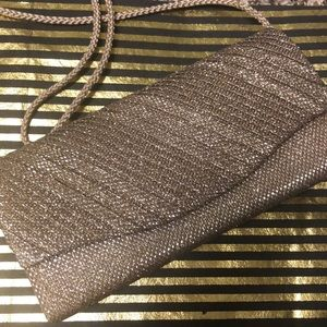 Super Blingy Going Out Handbag Bag - Gold